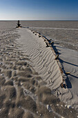 Ripples of sand in the wadden sea, Juist, North Sea coast, Wadden Sea National Park, Lower Saxony, Germany