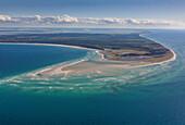Aerial photo of Darsser Ort, Darss, Western Pomerania Lagoon National Park, Baltic Sea Coast, Mecklenburg Vorpommern, Germany