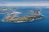 Aerial photo of Hiddensee Island, Baltic Sea Coast, Mecklenburg Vorpommern, Germany