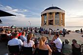 Concert on the beach promenade near the Pavilion, Borkum, Ostfriesland, Lower Saxony, Germany