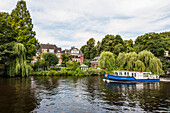 Excursion boat on the Alster river, Hamburg, Germany