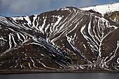 Snowfields on crater rim, Deception Island, South Shetland Islands, Antarctica