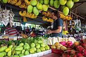 Fruit and vegetable market, Mount Kinabalu, Borneo, Malaysia.