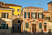 Campo San Alvise, facade, late afternoon light, quiet, Venice, Italy