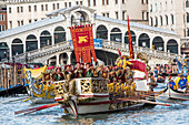 Regata Storica, tradition, historical water pageant, reconstruction, costume, colourful regatta, rowers, Grand Canal, Venice, Italy