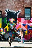 Street Art, Williamsburg, Brooklyn, New York, USA