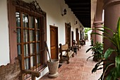 View of the Hotel, at Tlapacoyan village, Veracruz, Mexico.