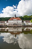The picturesque city hall in Bad Karlshafen, which was founded by the French Huguenots, Hesse, Germany, Europe