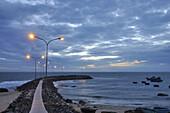 Vietnam, Binh Thuan Province, near Phan Thiet, the sea coast, wharf.