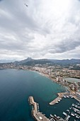 Panoramic view of Calpe from the Ifach, Calpe, Alicante, Spain.