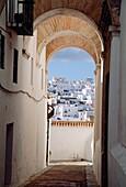 Passage in the Jewish quarter. Vejer de la Frontera, Cadiz province, Andalucia, Spain.