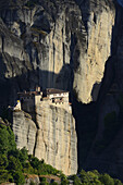 Greece, Thessaly, Meteora, World Heritage Site, Roussanou (Agia Barbara) nunnery.