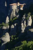 Greece, Thessaly, Meteora, World Heritage Site, Roussanou (Agia Barbara) nunnery.