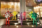 Urban People, sculpture by Swiss sculptor Kurt Laurenz Metzler. Orchad Road, Singapore.