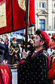 Medieval festivity in Lyon, France.
