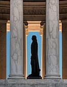 Interior, Jefferson Memorial, Washington DC, USA.