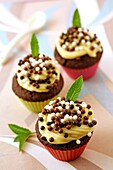 Cupcakes double chocolate.