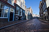 downtown the old city of Dordrecht, netherlands.
