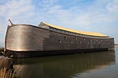 Replica of the arc of Noah, built at real scale as a museum, dordrecht, holland.