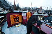living on a houseboat in Holland.