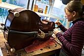 music instrument repair shop in Holland.