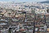 View over Quito from Cerro Panecillo Hill, Quito, Old City, Ecuador.