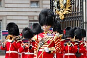 Changing of the Guards, Buckingham Palace, London, UK.