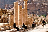 Colonnaded Street, Petra, UNESCO Heritage Site, Jordan, Middle East.