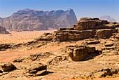 Wadi Rum, Jordan, Middle East.