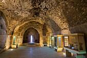 Interior Museum of Muslim military fort of Ajloun, Jordan, Middle East.