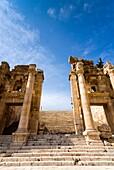 Propilaeum of Temple of Artemis, Jerash, Gerasa, Roman Decapolis City, Jordan, Middle East.