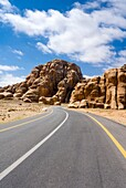 Road to Beida or Al Baidha area, Jordan, Middle East.