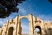South Gate, Jerash, Gerasa Roman Decapolis City, Jordan, Middle East.