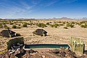 Pool, Doro Nawas Camp, Damaraland, Kunene Region, Namibia, Africa.