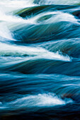 Vermont, Jamaica State Park, West River, Abstract View Of Small Sections Of Rapids With Flowing Water Patterns.