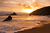 California, Big Sur, Pfeiffer Burns Beach At Sunset, Long Exposure