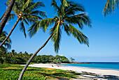 Hawaii, Big Island, Kohala Coast, Mauna Kea Resort, Mauna Kea Beach (Kauna'oa Beach).