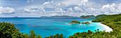 Caribbean, U.S. Virgin Islands, St. John, Trunk Bay, Tropical Seascape And Beach.