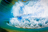 Hawaii, Maui, View Of A Breaking Wave From Underwater