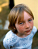 Portrait Of Girl With Freckles