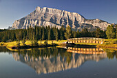 Mount Rundle And Cascade Ponds, Banff National Park, Alberta.