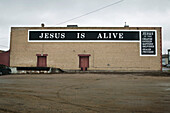 Sign On A Warehouse, North Battleford Saskatchewan