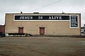Sign On A Warehouse, North Battleford Saskatchewan