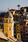 Church Bell Tower And Rooftops, Vernazza, Cinque Terre, Italy