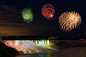 Fireworks Over The American Falls, Niagara Falls, New York, Usa