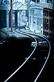 Subway Train Tracks, Tokyo, Japan