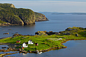 Salt Box Houses In Coastal Fishing Village Of Salvage, Newfoundland And Labrador