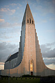 'Hallgrimskirkja Church At Sunset; Reykjavik, Iceland'