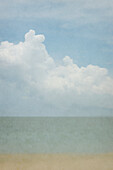 'Impressionistic Pinhole Photo Of Beach, Ocean And Cloudy Sky; Cancun, Mexico'