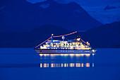 The Cruise Ship Spirit Of Oceanus At Dusk Near Homer Spit, Kachemak Bay, Southcentral Alaska, Summer
